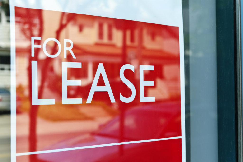 for lease sign in window.