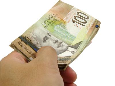 Hand passing money