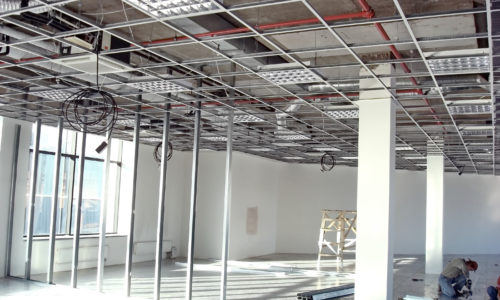 office space under construction