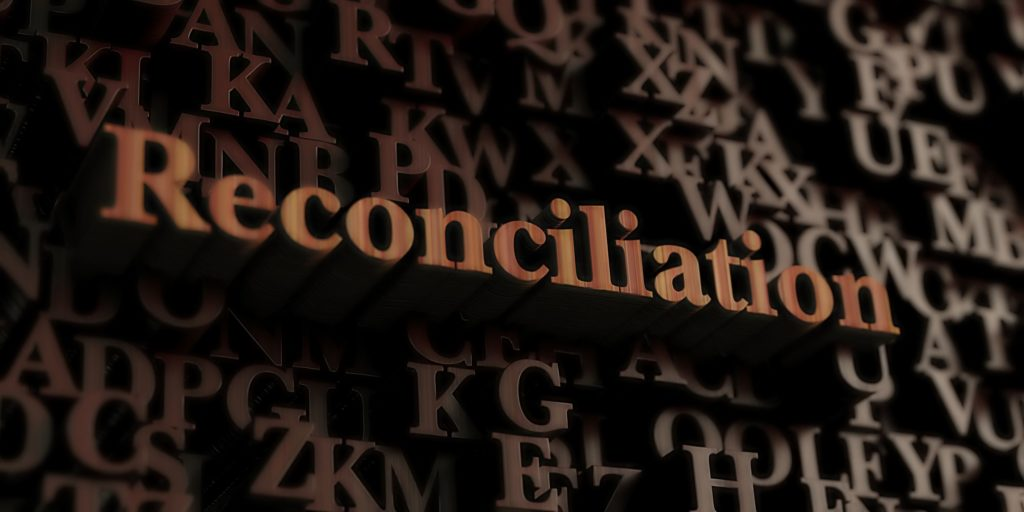 'Reconciliation' in block letters