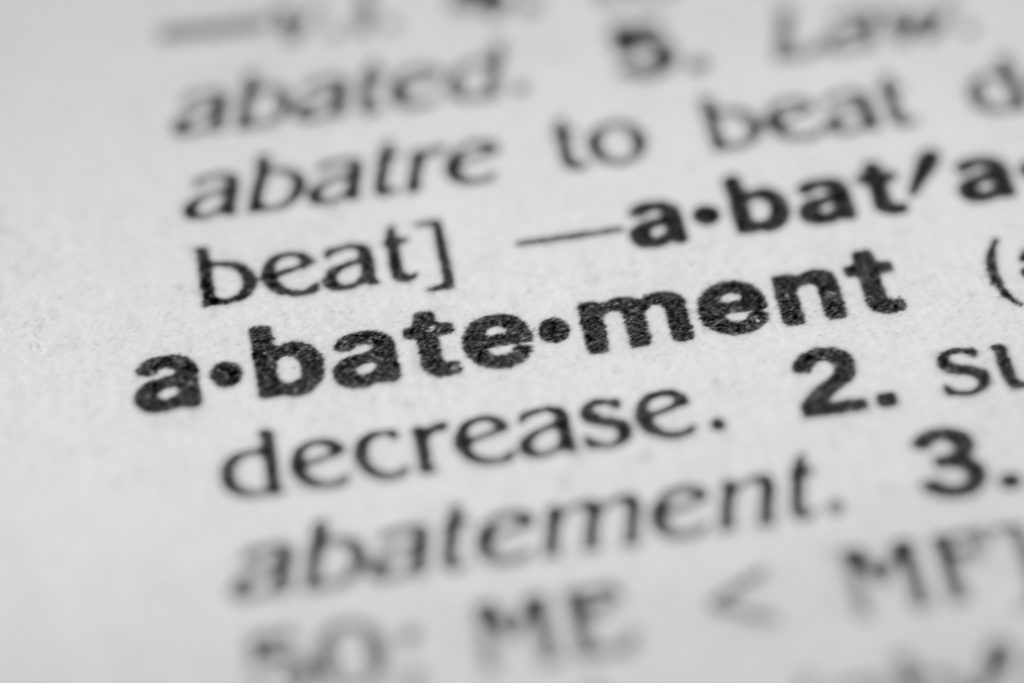 dictionary definition of abatement